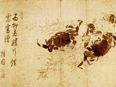 (Korea) Crabs by Kim Hong-do (1745-1806). aka Danwon. ca 18th century CE. Joseon Kingdom, Korea.