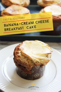 Banana cream cheese breakfast cakes (muffins)