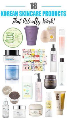 18 Best Korean Skincare Products That Actually Work 18 besten koreanischen Hautpflegeprodukte, die tatsächlich funktionieren Work Beauty Nerd By Night Source by LdyLuxe Beauty Care, Beauty Skin, Beauty Tips, Beauty Ideas, Beauty Secrets, Beauty Makeup, Face Beauty, Beauty Photos, Korean Skincare Routine