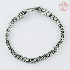 STRONG LOOK DESIGN MAN'S 925 STERLING SILVER BRACELET BR4338 #SilvexImagesIndiaPvtLtd #Chain