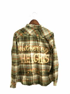 Wuthering Heights Shirt in Plaid Flannel. Green  by bambiFALANA, $69.00