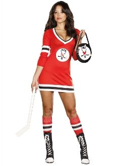 Puck U sexy hockey Waitress Party Halloween Costume Costume? The best Halloween costumes are always at www.SouthernLeathers.com