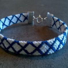 Bracelet brésilien blanc et bleu