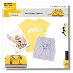 """""""Weekend Road Trip..."""" by idocoffee ❤ liked on Polyvore featuring MANGO, Vera Bradley, Bill Blass, OPI, yellow, casualoutfit, gray and polyvoreeditorial"""