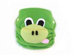 Diaper Cover, Frog, fleece, size M, animal. $25.00, via Etsy.