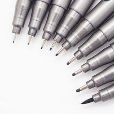 1-częściowy Pigment Liner Pigma Mikronów Tusz Marker Długopis 0.05 0.1 0.2 0.3 0.4 0.5 0.6 0.8 Różne Końcówki Czarny Szkicowania Długopis Fineliner