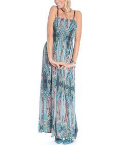 Love this Shoreline Blue & Fuchsia Paisley Shirred Maxi Dress - Women by Shoreline on #zulily! #zulilyfinds $13!