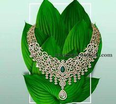 Jewellery Designs: Lotus Design Classy Diamond Set