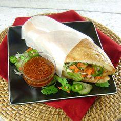 Lemongrass Chicken Banh Mi Sandwiches