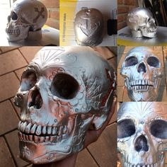 Hobby project selfmade skull