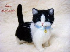 Needle felted cat by Hiro on Yahoo Auctions Japan