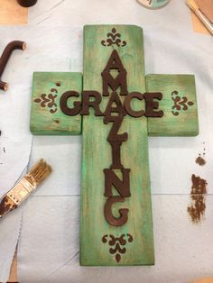best 25 wooden cross crafts ideas on burlap Diy Projects To Try, Crafts To Make, Craft Projects, Arts And Crafts, Diy Crafts, Craft Ideas, Creative Crafts, Wood Projects, Wooden Cross Crafts