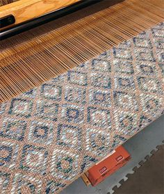 Duvall Blue Multi I had this idea that this design would be really great with ombre. Weaving Textiles, Weaving Patterns, Woven Rug, Woven Fabric, Loom Weaving, Hand Weaving, Rug Inspiration, Passementerie, Weaving Projects