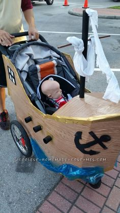 Infant Pirate Ship Stroller Costume...