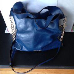 Michael Kors Devon Blue Leather Bag Excellent Condition. Well Maintained Michael Kors Bags Shoulder Bags