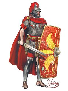 Roman centurion of the eastern legions in the armor of the old type (the period of Augustus Tiberius) 60-70 AD
