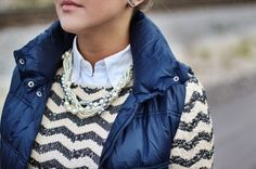 LOVE this sweater & vest combination.