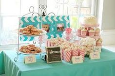 Image result for teal and pink baby birthday party
