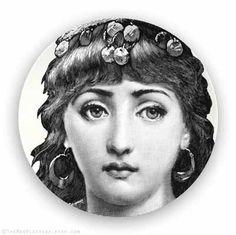 gypsy Lina Cavalieri melamine plate