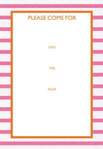 Bretagne pink Fill-In Invitations - 8 per package