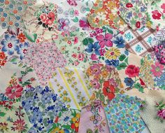 Vintage fabric hexys