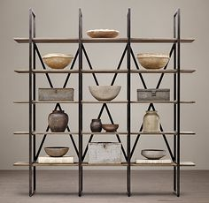 Wyatt Wide Open Metal Shelving This has 2 options: 92wx95h and 92wx103h