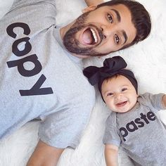 Copy & Paste (Matching Shirt Set) - Father and Son T Shirts, Onesies - Family, Dad, Mom, Baby Outfits Cole & Coddle Mother Daughter Outfits, Mom And Baby Outfits, Father Son Matching Outfits, Father Daughter, Dad Onesie, Baby Shirts, Dad To Be Shirts, Kids Shirts, Family Shirts