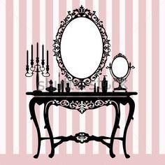Espelho, Candelabros E Console DE Vestir Retrô clip arts - ClipartLogo.com