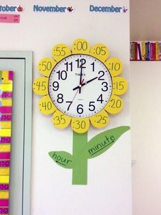 Classroom Clock Decor and Upgrade Ideas - WeAreTeacehrsYou can find Classroom decor and more on our website.Classroom Clock Decor and Upgrade Ideas - WeAreTeacehrs Classroom Clock, Kindergarten Classroom Decor, Diy Classroom Decorations, Classroom Setup, Classroom Design, Classroom Board, Future Classroom, Class Decoration Ideas, Decor Ideas