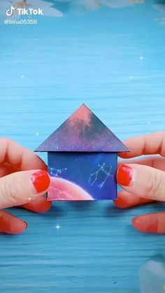 Origami video. Beautiful starry sky cabin. . .Step By Step #awesome #hamdmade #art #paper #diy #origami #Video #stepbystep #decoration #easy Origami Stars, Origami Easy, Diy Paper, Paper Crafts, Origami Videos, Things To Do When Bored, Origami For Beginners, Diy Crafts Hacks, Diy For Kids