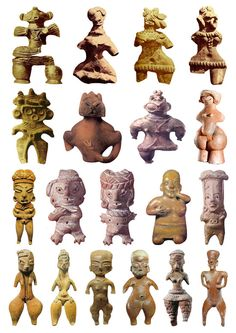 19 Goddess Sculptures from the Late Bronze Age (plate 2)