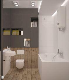 metamorfoza - mieszkanie w wiekiej płycie - ciepło/zimno - zdjęcie od Archomega Biuro Architektoniczne - Łazienka - Styl Nowoczesny - Archomega Biuro Architektoniczne