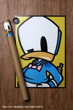 SHON SIDE - CAP DUCK STICKER & POSTER by SHON SIDE, via Behance