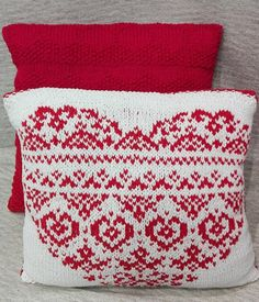 Decorative knitted pillow red color with pattern for sofa bed leisure addition to the interior / birthday gift Christmas wedding gift : Handmade Decorations, Handmade Crafts, Handmade Ideas, Etsy Handmade, Knit Pillow, Knitted Pillows, Rope Crafts, Lace Doilies, Easy Crochet Patterns