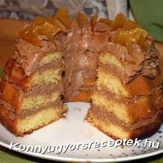 Könnyű Gyors Receptek - Dobos kuglóf recept recept Banana Bread, French Toast, Pizza, Sweets, Cookies, Chocolate, Breakfast, Cake, Food