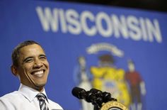 Barack Obama campaigns in Milwaukee