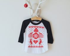 The Holiday Ugly Sweater Tee, Child Shirt, Toddler shirt, Christmas Sweater, Hipster kids clothes, child t-shirt, Christmas Shirt, Holidays by SandiLake on Etsy https://www.etsy.com/listing/208181595/the-holiday-ugly-sweater-tee-child-shirt