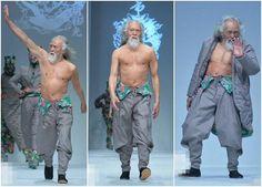 Wang Deshun, an actor from Shenyang, China. He is 79 Year-old Chinese Fashion Model.
