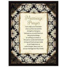 Dexsa Marriage Prayer Frame Plaque with Easel