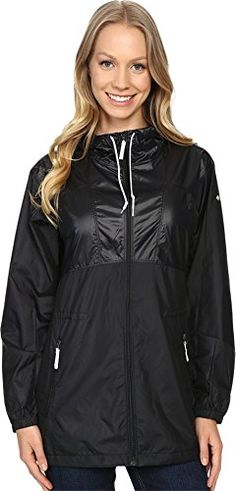 Columbia Womens Ws Flashback Windbreaker Long Black Shiny Small >>> Want additional info? Click on the image.(This is an Amazon affiliate link and I receive a commission for the sales)
