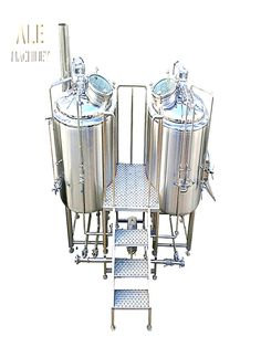 German technology high level brewhouse system for draft beer brewing, mash/lauter tun, kettle/whirlpool tank, hot liquor tank, various combination style for options, which kind do you prefer? Beer Brewing, Home Brewing, How To Make Moonshine, Ale Beer, Brewing Equipment, High Level, Craft Beer, Kettle, Liquor