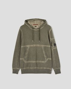 I.C.E. Garment Dyed Hoodie | C.P. Company Online Store Hoodies, Store, Winter, Clothing, Sweaters, Fashion, Winter Time, Outfits, Moda