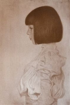 Gustav Klimt - Portrait of Helene Louise Klimt, Collotype Modern Art For Sale, Modern Art Paintings, Impressionist Art, Gustav Klimt, Art Tutorials, Amazing Art, Art Drawings, Cool Art, Abstract Art