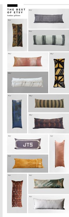 Best of Etsy : Lumbar Pillows - Room for Tuesday
