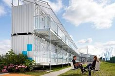 Snoozebox - Pop-up Hotel made from Shipping Containers    #oceanshipping www.shiplilly.com