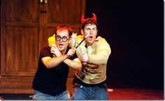 """Jefferson Turner and Daniel Clarkson created and star in Broadway in Broadway in Chicago's """"Potted Potter,"""" directed by Richard Hurst, and playing at the Broadway Playhouse."""