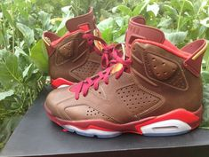 separation shoes 7ec6a e9d53 New Air Jordan Air Jordan 6 Championship Cigar Raw Umber Team Red Metallic  Gold Challenge Red 384664 250