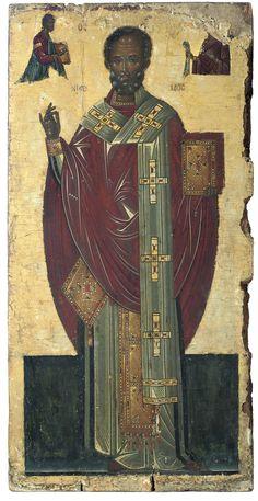 Byzantine Icons, Byzantine Art, Old Fashion Christmas Tree, Father Christmas, Retro Christmas, Christmas Christmas, Religious Icons, Religious Art, Jesus Christ Images