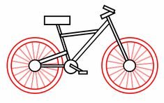 How to Draw a bicycle. I'm working on it