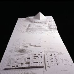 © manuel aires mateus, model by norigem - the grand egyptian museum competition - cairo, egipt - 2002 Conceptual Architecture, Museum Architecture, Art And Architecture, Design Lab, Design Model, Architectural Sculpture, Architectural Drawings, Arch Model, Portfolio
